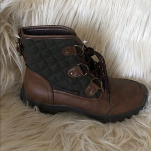 NEW!! Brown and Grey Combat Boots